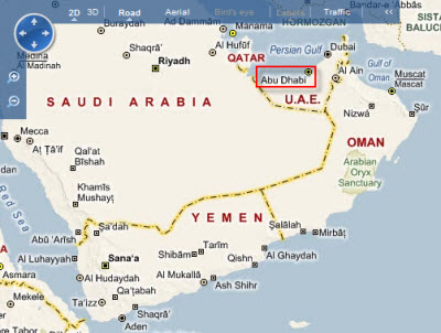 Map of Abu Dhabi