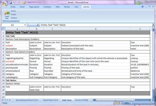 Excel-DocumentationGenerator