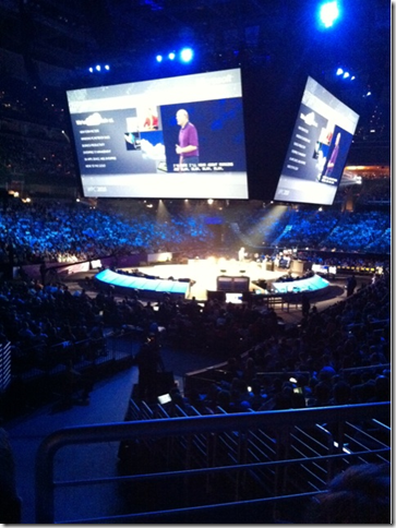 Steve Ballmer on stage at WPC saying that's he's all in.