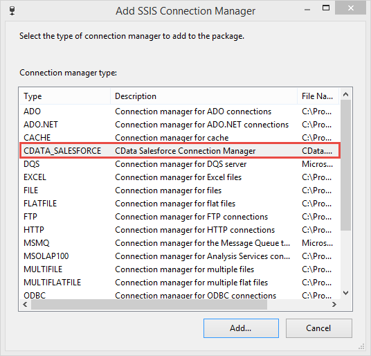 SSIS Connection