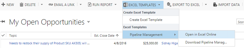 Sonoma Partners Microsoft CRM And Salesforce Blog CRM Excel - Crm excel template