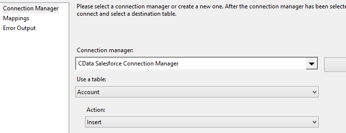 CData Connection Manager